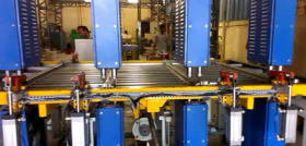 Welding line for body parts